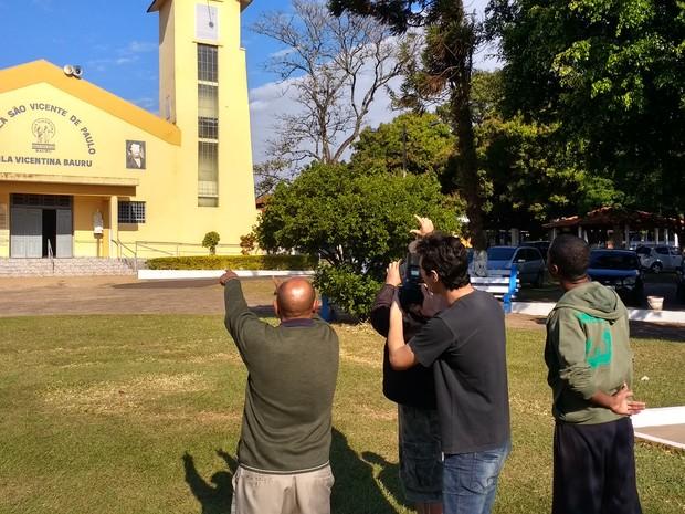 Reabilitandos do Albergue Noturno de Bauru produziram mostra fotográfica (Foto: Divulgação)