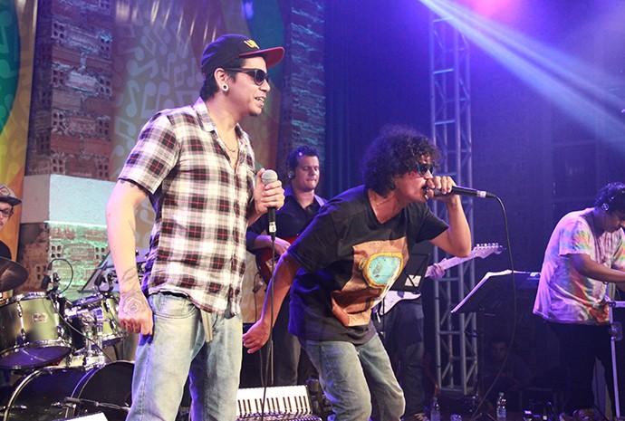 Os Tucumanus e Jander Manauara misturam rap com regional experimental (Foto: Katiúscia Monteiro/ Rede Amazônica)
