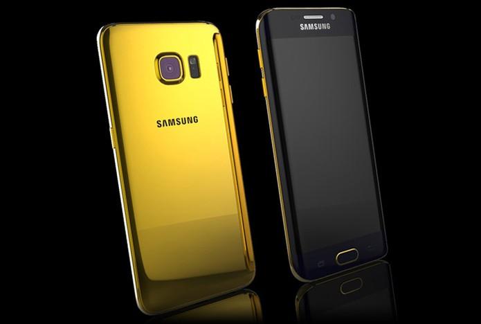 Versão em ouro do novo smart da Samsung (Foto: Divulgação/Goldgenie)