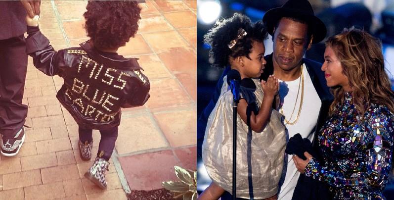 A filha de Beyoncé e Jay Z está se tornando a ícone de moda que todos esperávamos com apenas 2 anos. Blue adora sneakers – um tênis especial para esportes ou outras ocasiões – e a jaqueta personalizada com seu nome. (Foto: Instagram Beyoncé/Getty Images)