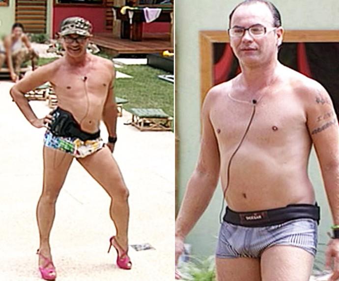 Dicesar, do BBB 10, ganhou uma barriguinha durante o reality (Foto: TV Globo)
