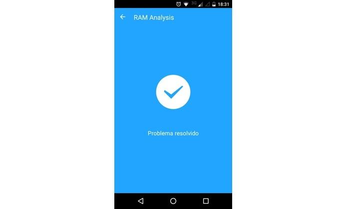 CPU do Android resfriada com RAM Analysis (Foto: Reprodução/Raquel Freire)
