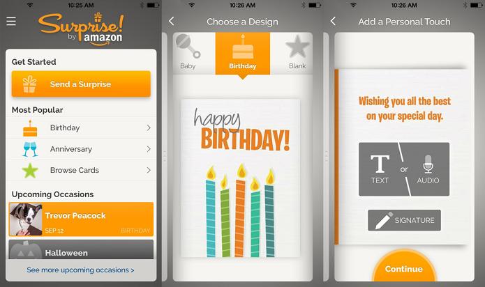 Faça troca de mensagens através de cards com o Surprise (Foto: Divulgação/AppStore)