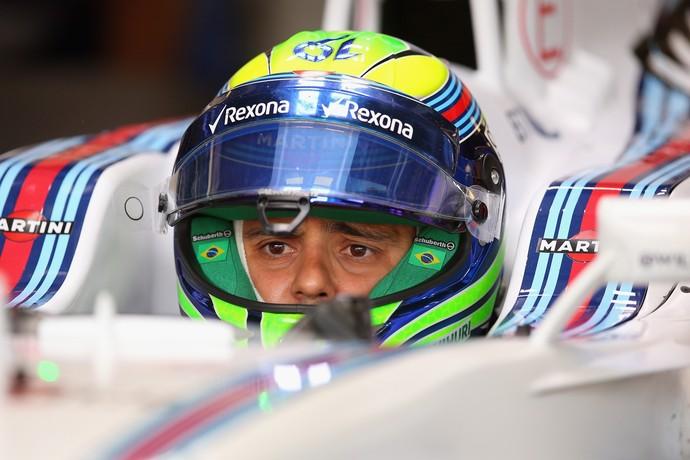 Felipe Massa no cockpit da Williams durante treinos livres em Monza (Foto: Getty Images)