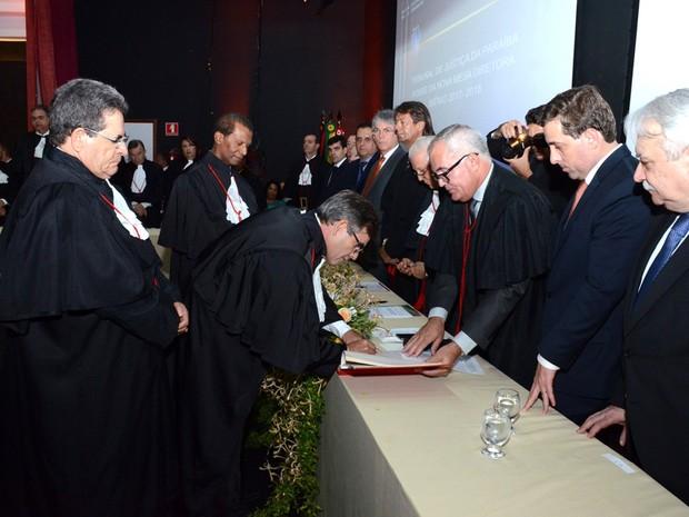 Desembargador Joás de Brito toma posse como novo presidente do Tribunal de Justiça da Paraíba (Foto: Ednaldo Araújo/TJ-PB)