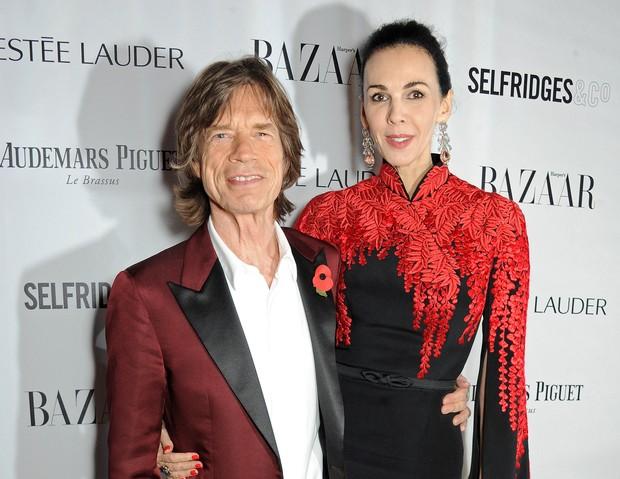 Mick Jagger e L'Wren Scott (Foto: David M. Benett/Agência Getty Images)