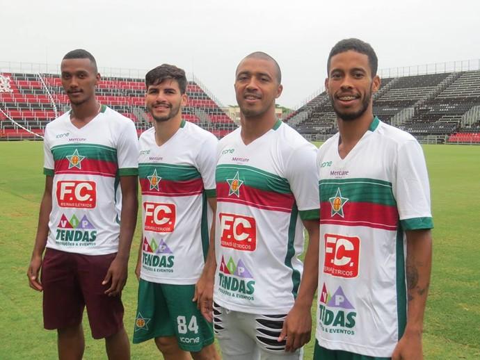 Rezende, Caio Cezar, Tiago Amaral e Wescley da Portuguesa (Foto: Reprodução/ Facebook Portuguesa)