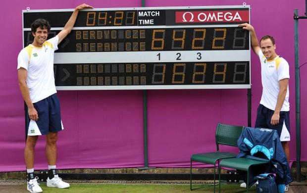 Bruno Soares tênis Marcelo Melo Londres Olimpíadas tênis recorde (Foto: Divulgação / ITF)