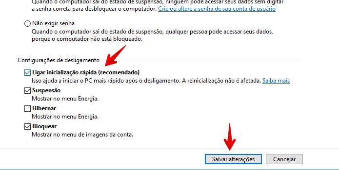 Inicialização rápida pode causar problemas na tela do Windows (Foto: Reprodução/Helito Bijora)
