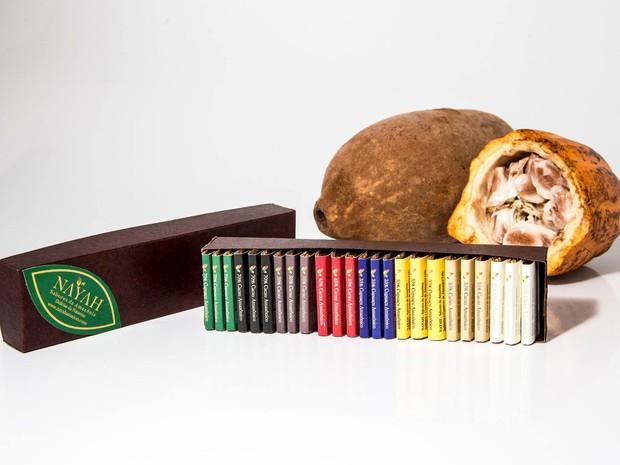Chocolates feitos de sementes de cacau e sementes de cupuaçu (Foto: Divulgação/ Nayah)