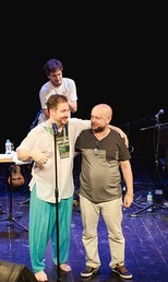 Lucio Sanfilippo e Luiz Antônio Simas (Foto: Bel Acosta/Divulgação)