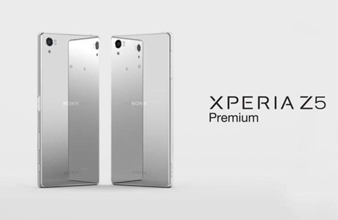 Xperia Z5 Premium possui cores prata e dourado no Brasil (Foto: Divulgação/Sony)