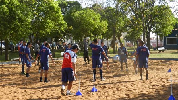 Grupo do Portal treina parte física na pré-temporada (Foto: Gullit Pacielle)