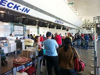 Funcionários do Aeroporto Marechal Rondon aderiram à greve (Foto: Angélica Neri/ Centro América FM)