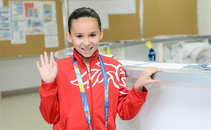 Com apenas 10 anos, Alzain Tareq, do Bahrein, é a mais nova do Mundial (Foto: Divulgação / Kazan2015)