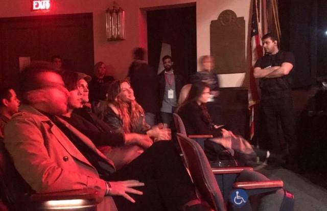 Gisele e Tom Brady na plateia (Foto: Reprodução/Instagram)
