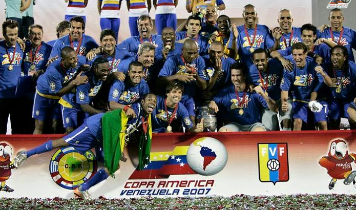 Em 2007, Brasil conquistou a Copa América (Foto: Divulgação/Conmebol)