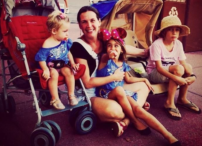 Vanessa Lóes curte as férias com os filhos  (Foto: Arquivo Pessoal)