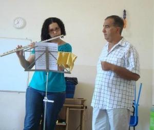 Rosane recebe instruções do mestre Salvatore Lombardi (Foto: Rosane Pontes/Arquivo Pessoal)