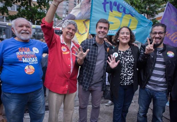 Marcelo Freixo vota no Rio de Janeiro (Foto: Divulgação/Facebook)