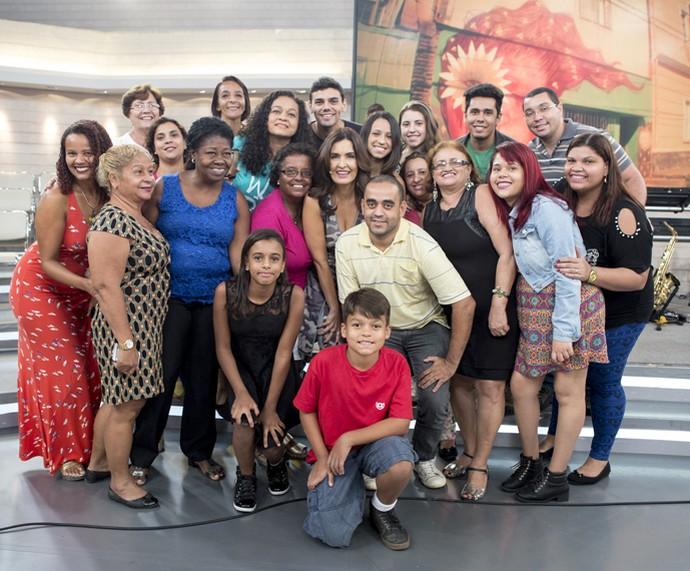 Mais participantes da plateia do 'Encontro' ao lado da Fátima (Foto: Ellen Soares/Gshow)