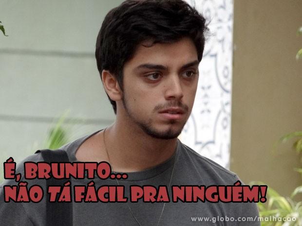 E agora, Bruno? Vai perder a Fatinha pra Miami? (Foto: Malhação/ TV Globo)