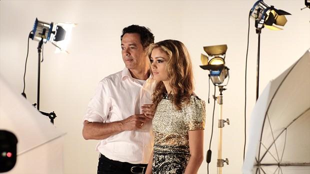 Sophie Charlotte e o pai, Mário Silva (Foto: Divulgação)
