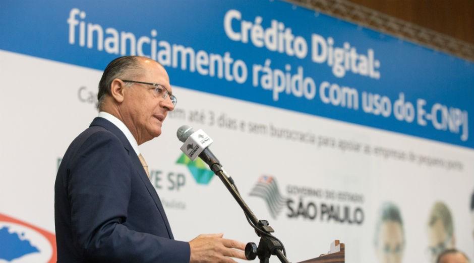 Geraldo Alckmin: Governo do Estado de SP cria linha de crédito rápido às pequenas empresas (Foto: A2img/Alexandre Carvalho)