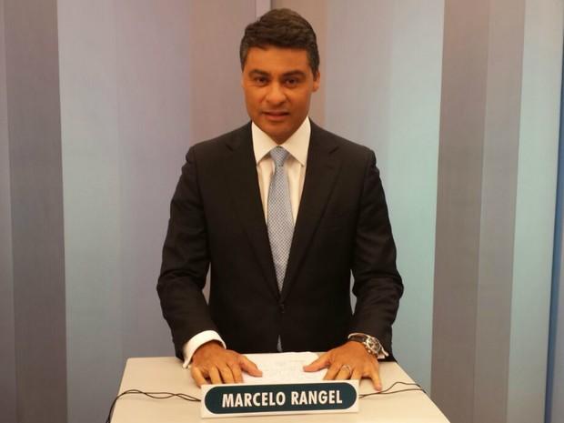 Marcelo Rangel (PPS) posicionado para o debate do 2º turno em Ponta Grossa  (Foto: Alana Fonseca)