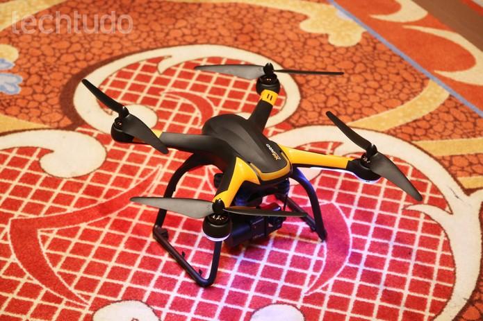 Os drones Hexo+, o ORA e o Nixie ganharam destaque na CES 2015 (Foto: Fabrício Vitorino/TechTudo)