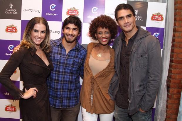 Deborah Secco, Hugo Moura, Isabel Fillardis e Rafael Calomeni (Foto: Anderson Borde/AgNews)
