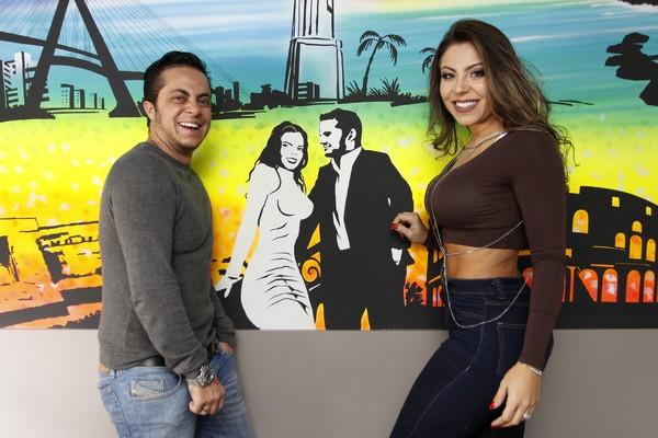 Thammy Miranda homenageia Andressa Ferreira com grafite em casa