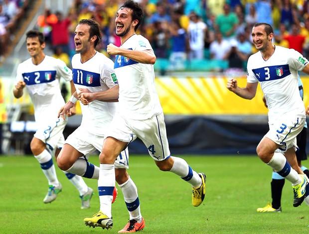 comemoração da Itália contra o Uruguai fonte nova (Foto: Getty Images)
