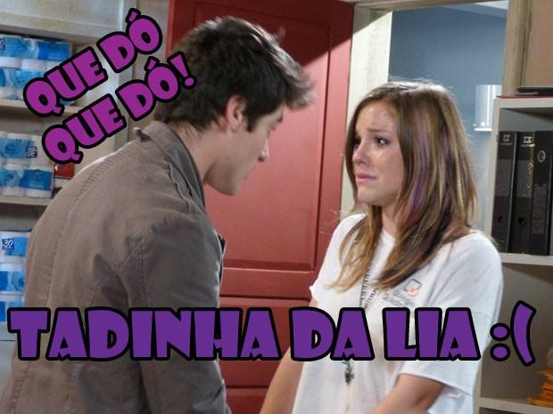 Será que o Vitinho vai algum dia acreditar que o Sal é bad boy??? (Foto: Malhação / Tv Globo)