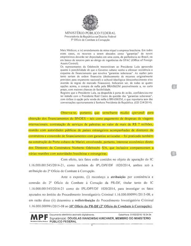 Ministério Público Federal - Lula - Odebrecht (Foto: Reprodução)