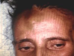 Idosa Maria Rosa foi torturada pela cuidadora Maria Divina Almeida, em Inhumas, Goiás (Foto: Reprodução/TV Anhanguera)