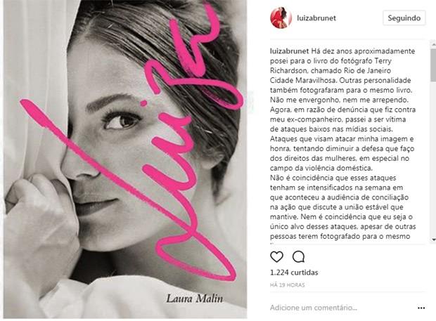 Post no Instagram da ex-modelo (Foto: Reprodução / Instagram)