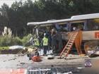 Acidente entre ônibus e caminhão na BR-470 deixa mortos em SC
