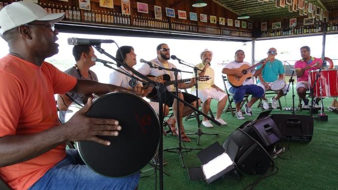 Ases do Pagode participa do 'Paneiro' (Foto: Onofre Martins/ Rede Amazônica)