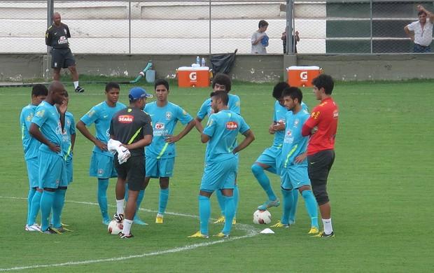 Seleção sub-20 Brasil treino (Foto: Marcelo Baltar / Globoesporte.com)