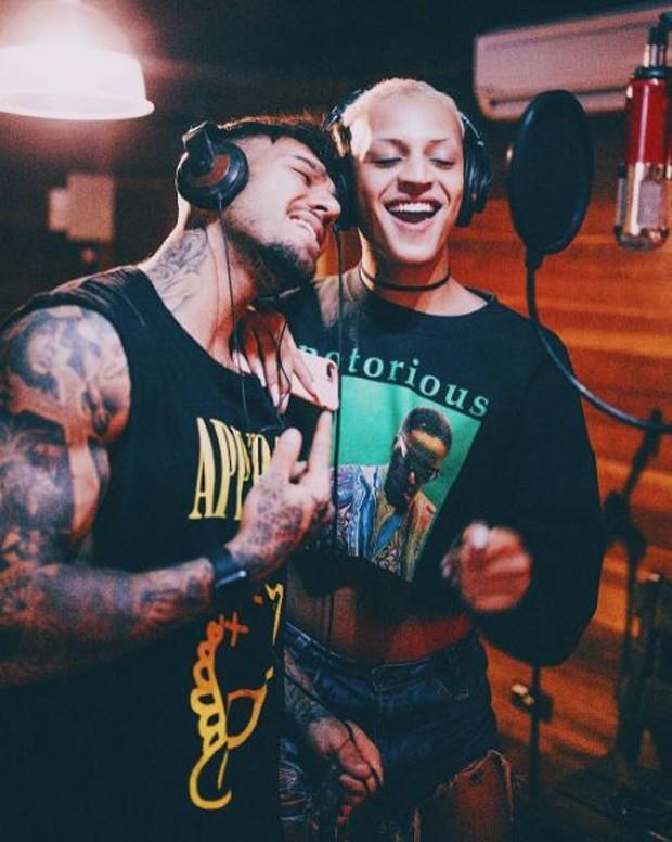 Lucas Lucco e Pabllo Vittar (Foto: Reprodução/Instagram)