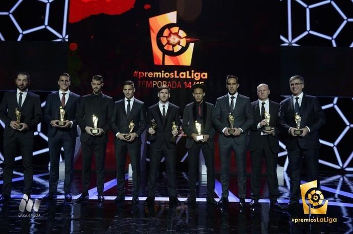 premiação Campeonato Espanhol (Foto: Reprodução / Twitter)