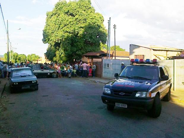 Reconstituição do crime ocorreu nesta quarta-feira (Foto: Polícia Civil/ Divulgação)