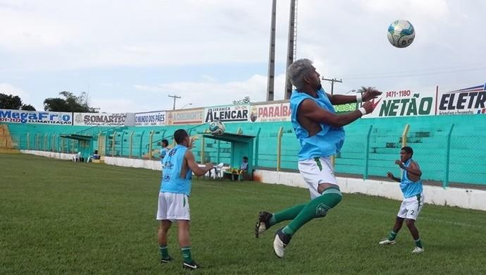 Guaraí em treino para o Tocantinense (Foto: Divulgação/TV Lobão)