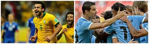 Seleção Brasileira x Uruguai  (Foto: Wagner Carmo / VIPCOMM/ AFP/Reprodução: TV Liberal )