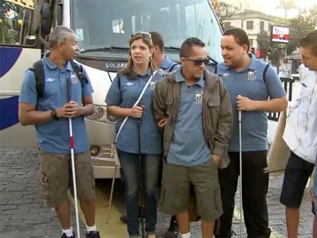 Atletas do Golbol acompanharão partida da Copa do Mundo (Foto: Reprodução / TV Tribuna)