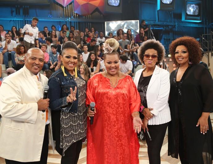 Fat Family participa da gravação do 'Altas Horas' (Foto: Carol Caminha/Gshow)
