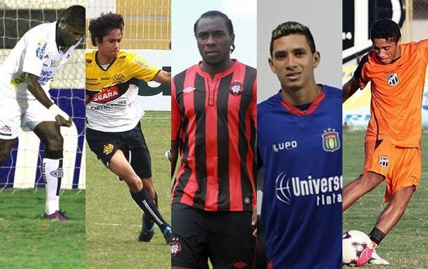 Lúcio Maranhão, Lucca, Manoel, Rogério e Misael são alguns dos maranhenses na Série B (Foto: Montagem)
