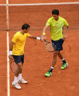 Marcelo Melo e Ivan Dodig semifinal Roland Garros 2016 (Foto: Getty Images)