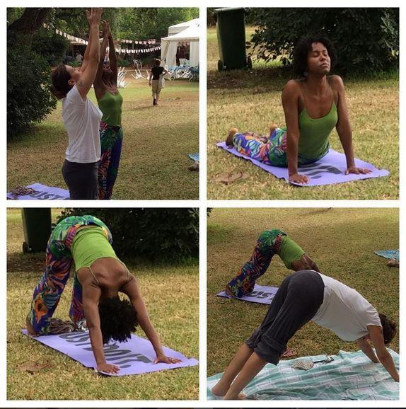 Maju fazendo ioga (Foto: Instagram / Reprodução)
